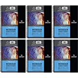 """6-Pack Case - Canson Artist Series Watercolor Pad, 5.5"""" x 8.5"""" Side Wire"""