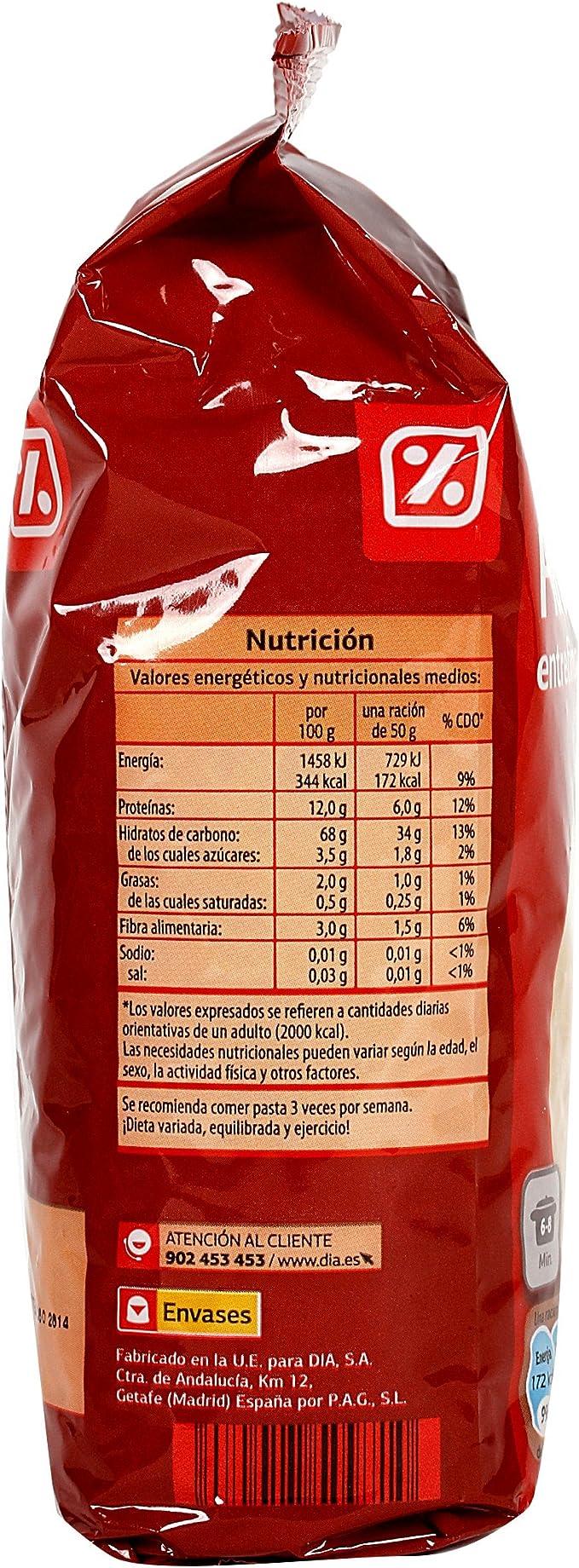 DIA - Fideo Entrefino Paquete 500 Gr: Amazon.es: Alimentación y bebidas