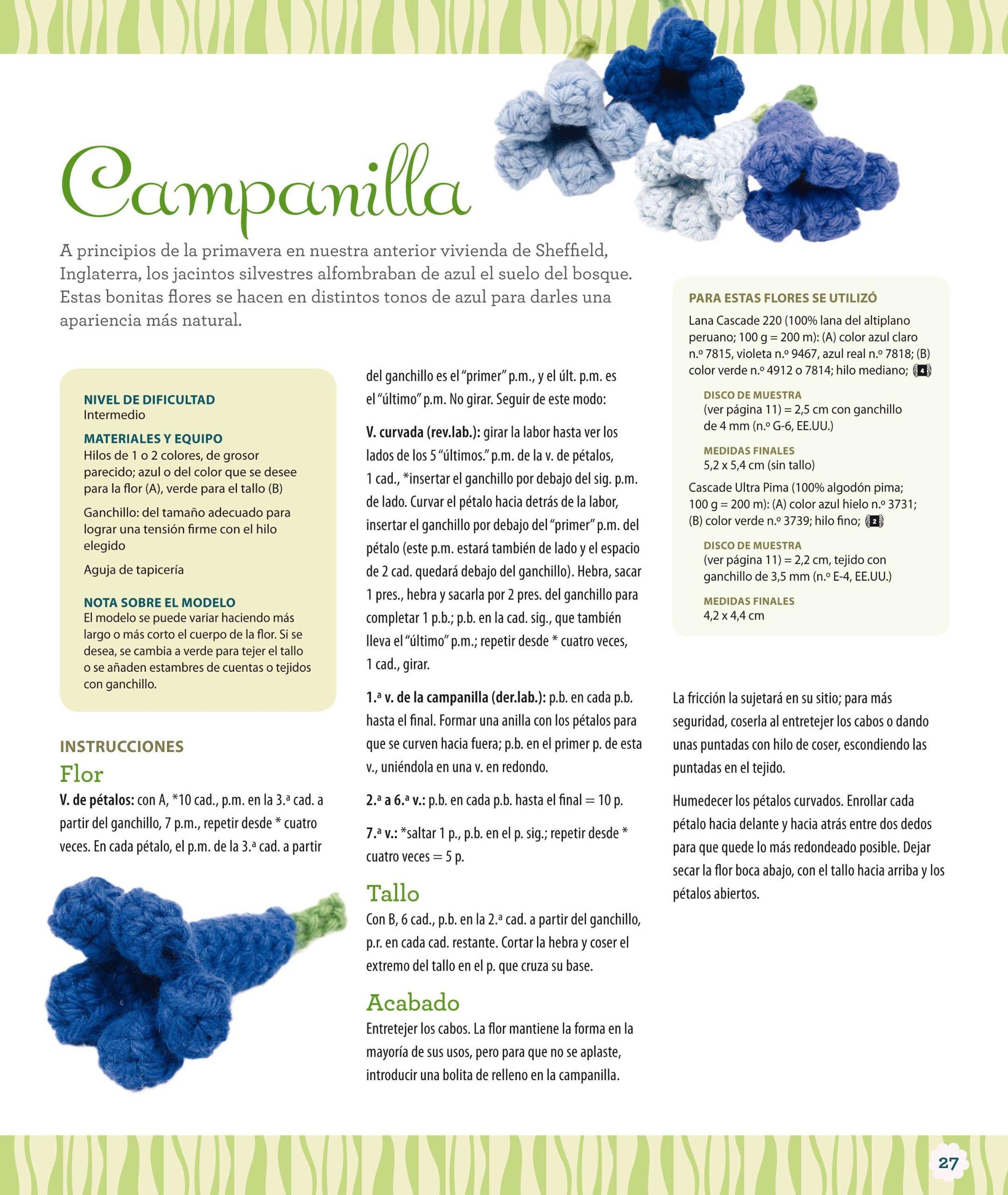 Nuevas Flores Y Hojas De Ganchillo Artesania Y Manualidades: Amazon ...