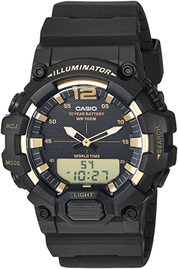 Amazon.com: Casio Mens Classic Quartz Watch with Resin Strap, Black, 24 (Model: HDC-700-9AVCF: Watches