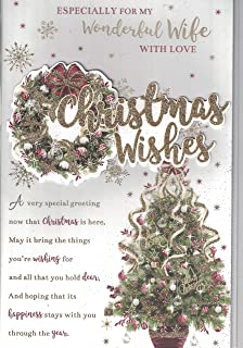 wife christmas card christmas wishes to my very special wife with love traditional christmas