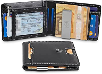 "b36886ff247c9 TRAVANDO ® Wallet Mens with Money Clip ""New York"" RFID Blocking Slim Wallet"