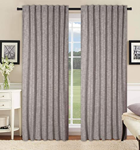 Cotton Clinic Farmhouse Style Tab Top Window Curtains 2 Panels 50×108