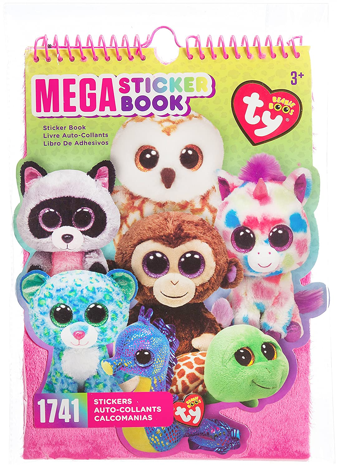 Amazon.com  Darice TY Beanie Boo Mega Sticker Book 5ab6955c135