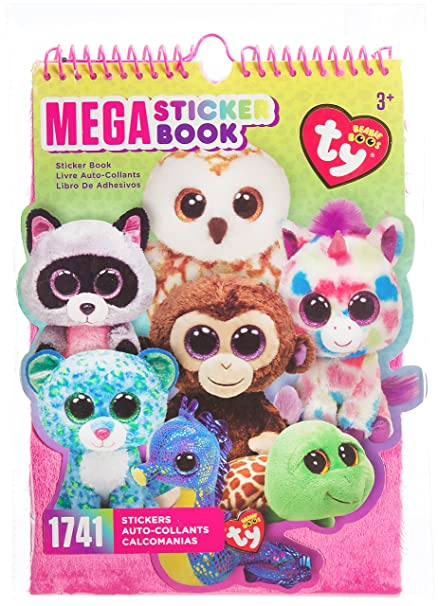 cc9d1b334c0 Amazon.com  Darice TY Beanie Boo Mega Sticker Book
