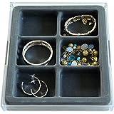 Amazoncom Black Leatherette 10 Drawer Jewelry Storage Organizer 14