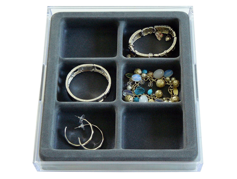 Amazoncom Necklace and Bracelet Jewelry Organizer with Velvet Tray