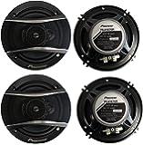 4) Pioneer 6.5 Inch 3-Way 640 Watt Car Coaxial Stereo Speakers Four | TS-A1676R