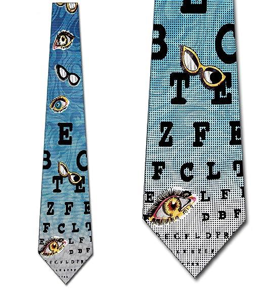 Amazon Eye Chart Ties Optometrists Neckties Eyes Tie Mens Neck