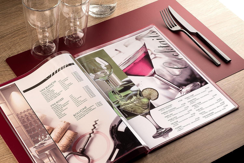 31.3x22.6x0.7 cm Bordeaux I Love Menu Linea Risto Portamenu PVC