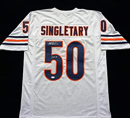 Mike Singletary Signed Autographed White Football Jersey with JSA ...