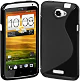Cimo S-Line Back Flexible TPU Case for HTC One X, One X+ (AT&T) - Black