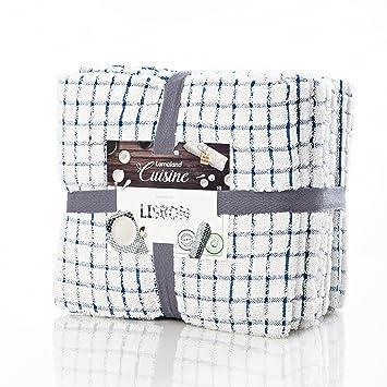 Lumaland Küchentücher Geschirrtücher Lisbon Serie In Fünf Farben Jeweils 10  Stück 100 % Ringgesponnene Baumwolle 45