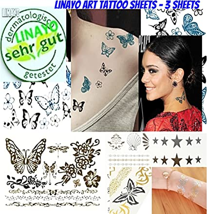 mujeres chica mariposa Tatuajes temporales: Amazon.es: Belleza