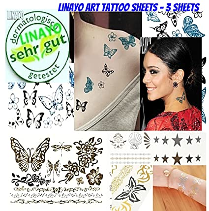 Femmes Special Mere Fille Edition Tattoo Autocollants 3 Feuilles