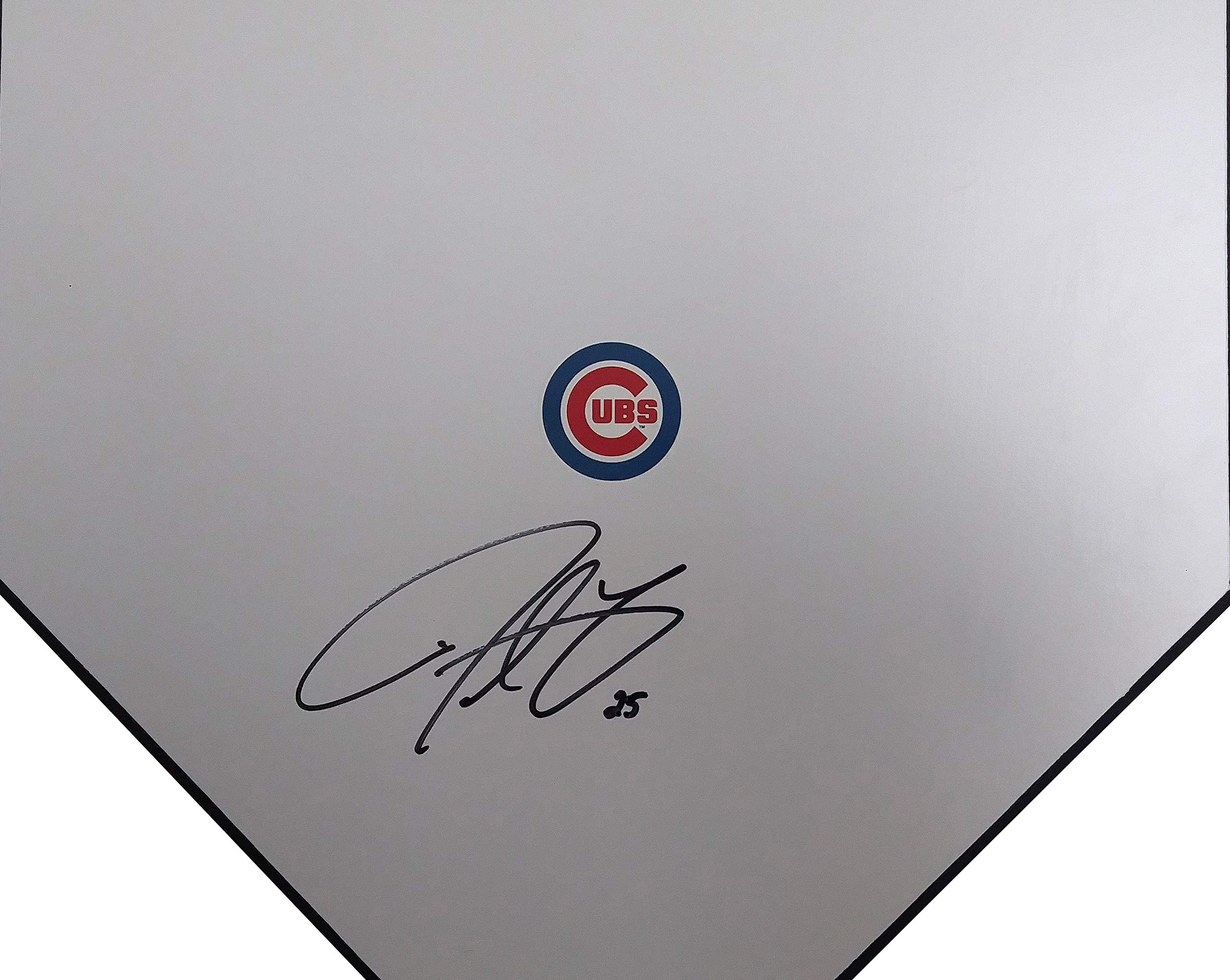 Chicago Cubs Derrek Lee Autographed Hand Signed Baseball Home Plate Base with Proof Photo of Signing and COA