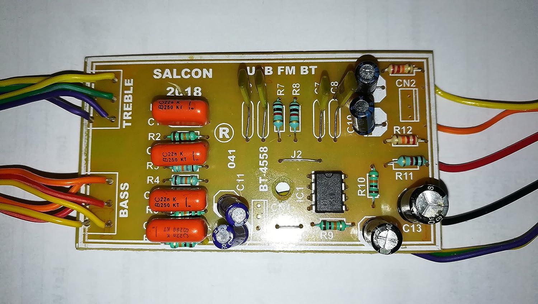 Salcon Electronics Bt 4558 Amp Filter Bass Treble Free Project Circuit Diagram Passive Control For