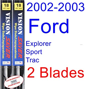 2002-2003 Ford Explorer Sport Trac Replacement Wiper Blade Set/Kit (Set of