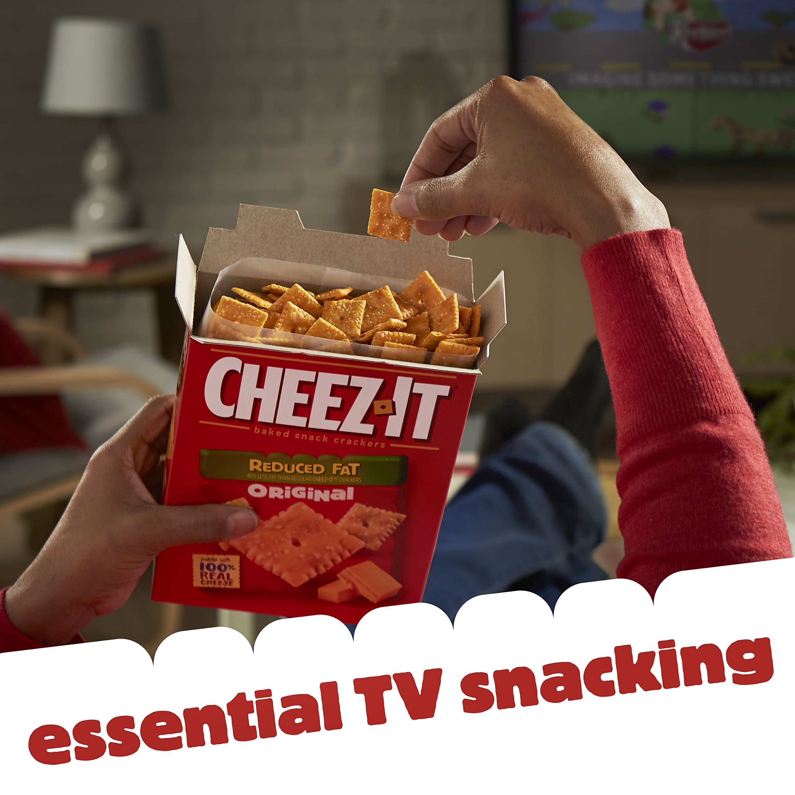 Cheez-It Baked Snack Cheese Crackers, Reduced Fat, Original, 6 oz Box(Pack of 12) by Cheez-It (Image #7)