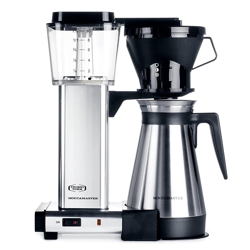 Moccamaster KBT 10-Cup Coffee Brewer with Thermal Carafe, Polished Silver