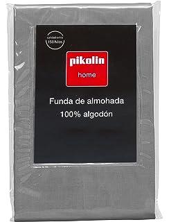 Pikolin Home - Almohadón, funda de almohada, 100% algodón, 40 x 90