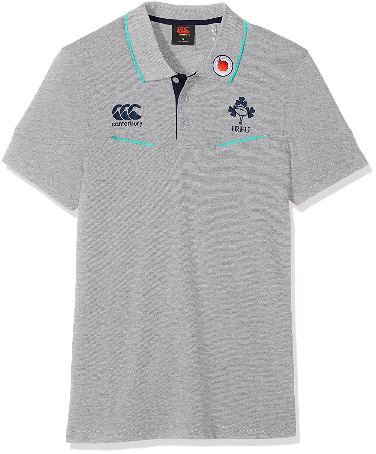 2016-2017 Ireland Rugby Cotton Training Polo Shirt (Classic Marl) B01HEO7A0C Small 36
