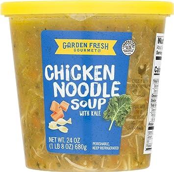 garden fresh gourmet chicken noodle soup with kale 24oz - Garden Fresh Gourmet