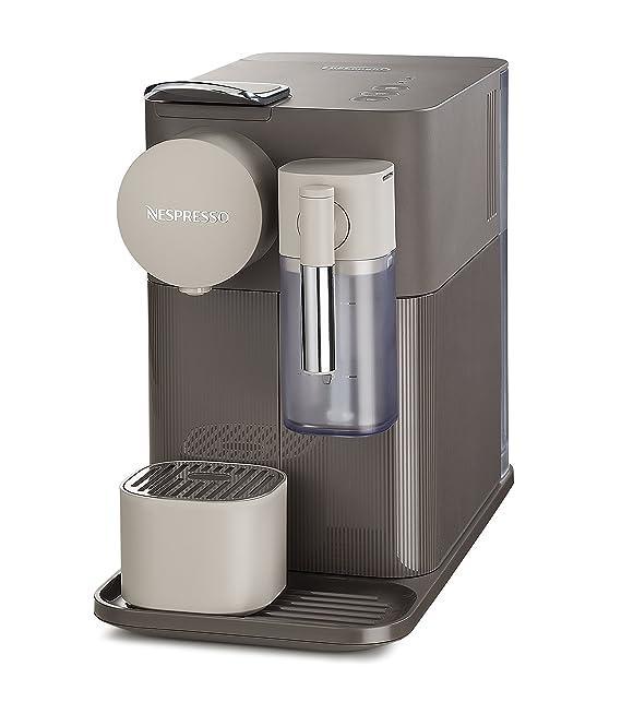 Nespresso Delonghi Lattissima One EN500BW Cafetera con Diferentes Cápsulas, Depósito 1 L, Potencia 1400 W, 19 Bar/Presión, Marrón: Amazon.es: Hogar