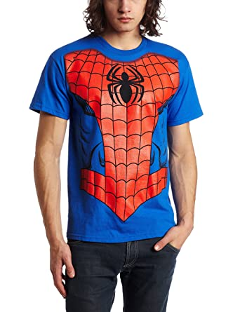 a1bf53a86 Amazon.com: Marvel Men's Spider-Man Costume T-Shirt: Clothing