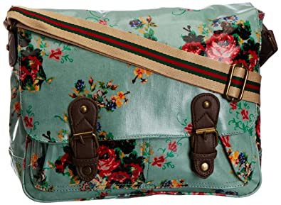 SwankySwans Mila Spring Floral Print Laminate, Girls' Satchel, Mint Green,  One Size