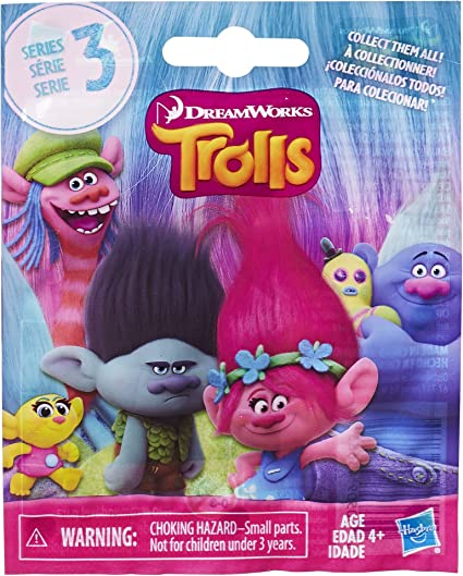 Dreamworks Trolls The Movie Series 4 Mini-Figure Pink Guy Diamond