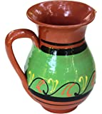 Terracotta Green, 3/4 Quart Pitcher - Hand Painted From Spain