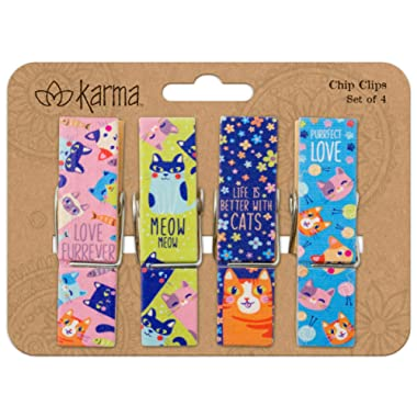 Karma Gifts Chip Clips, Cat
