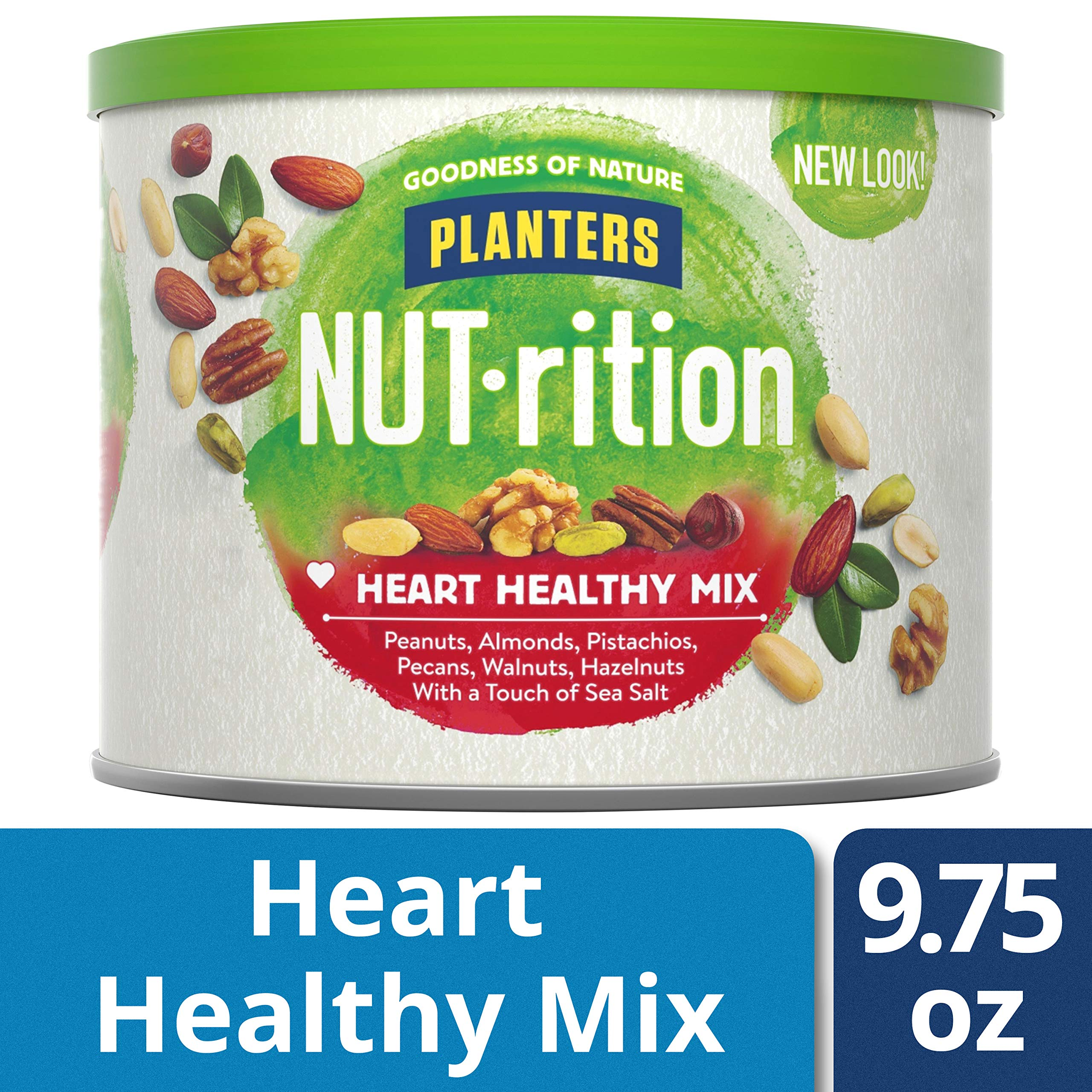 NUTrition Heart Healthy Snack Nut Mix (9.75oz, Pack of 3) by Planters (Image #5)