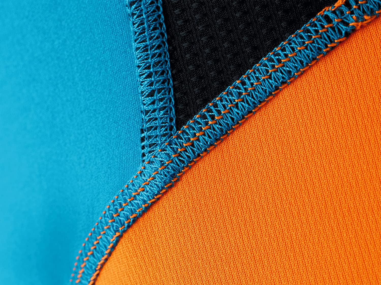 ERIMA Premium One Running T-Shirt curacao/neon orange/black)