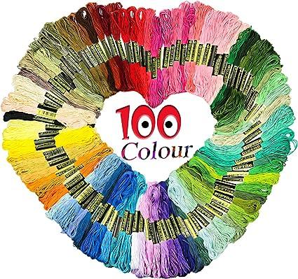 Iris Embroidery Cross Stitch 6 Strand Cotton Thread Floss 72 Assorted Skeins