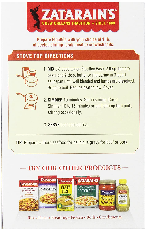 Amazon : Zatarain's Etouffee Base, 32 Oz (case Of 12) : Mixed Spices  And Seasonings : Grocery & Gourmet Food