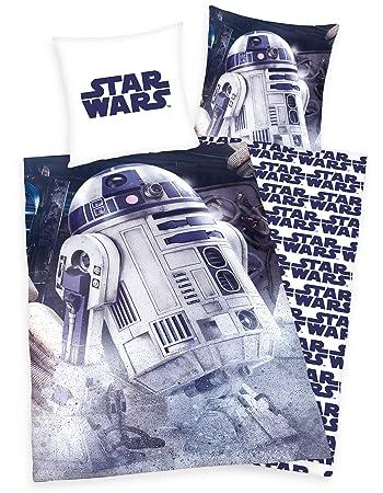 Star Wars 8 Bettwäsche R2d2 135x200 80x80cm 100 Baumwolle