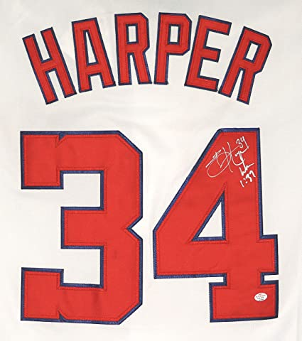 Image Unavailable. Image not available for. Color  Bryce Harper Washington  Nationals Signed Autographed ... 28f8c87d5