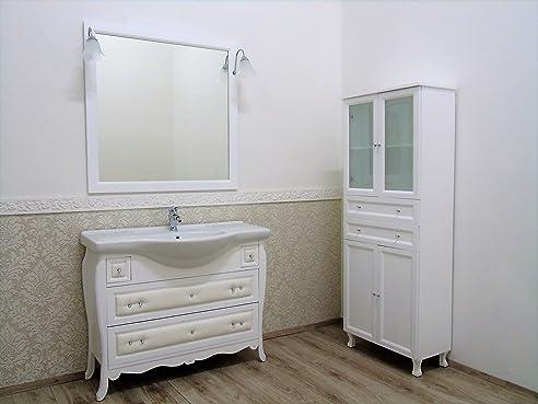 Badezimmermöbel Badmöbel mit Front Kunstleder und Swarovsky ...