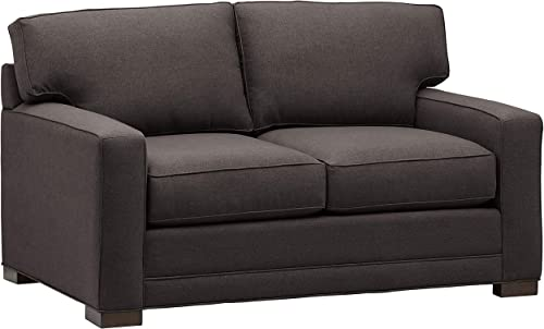 Stone Beam Dalton Loveseat, 63.5 W, Charcoal