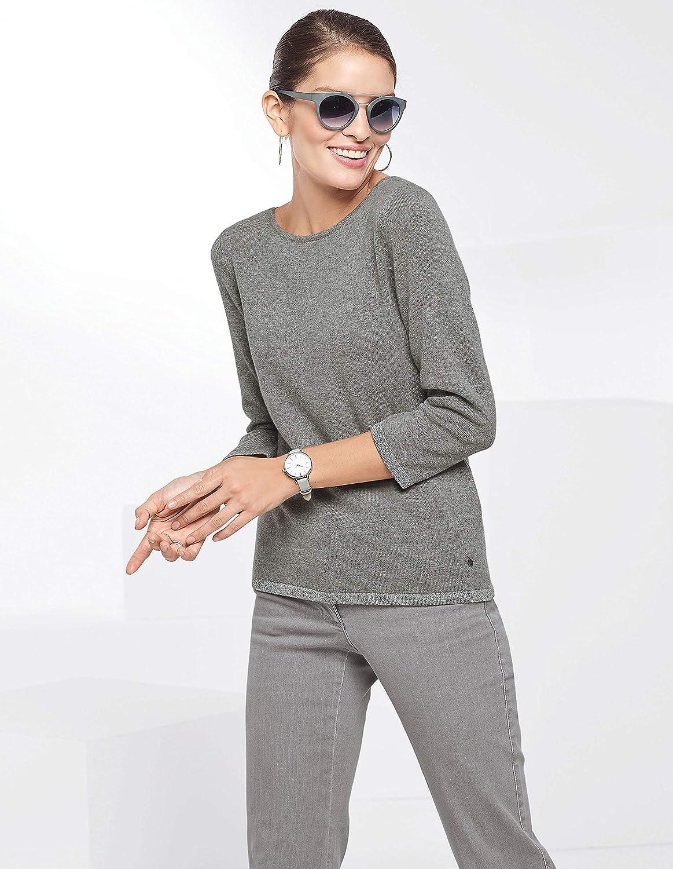MADELEINE Women/'s Slender Cashmere Jumper with 3//4-length Sleeves