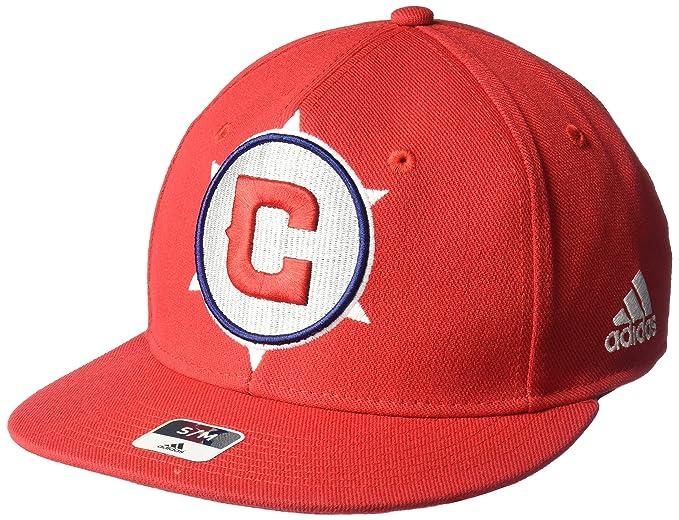 brand new 77133 398c7 MLS Real Salt Lake Men s SP17 Fan Wear Oversized Logo Fvf Cap, Red, Small