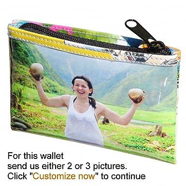 Amazon.com: Grande personalizado cierre cartera con imagen ...
