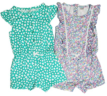 b3006e78a Amazon.com  Carter s Set of 2 Baby Girl s Shorts Rompers  Clothing