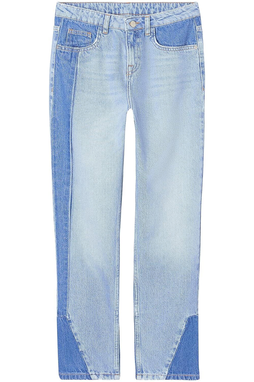 find Marchio Jeans Dritti con Pannelli a Contrasto Donna