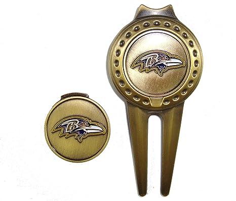 cf2e3dd6 Amazon.com : Baltimore Ravens Golf Hat Clip & Divot Tool with Golf ...