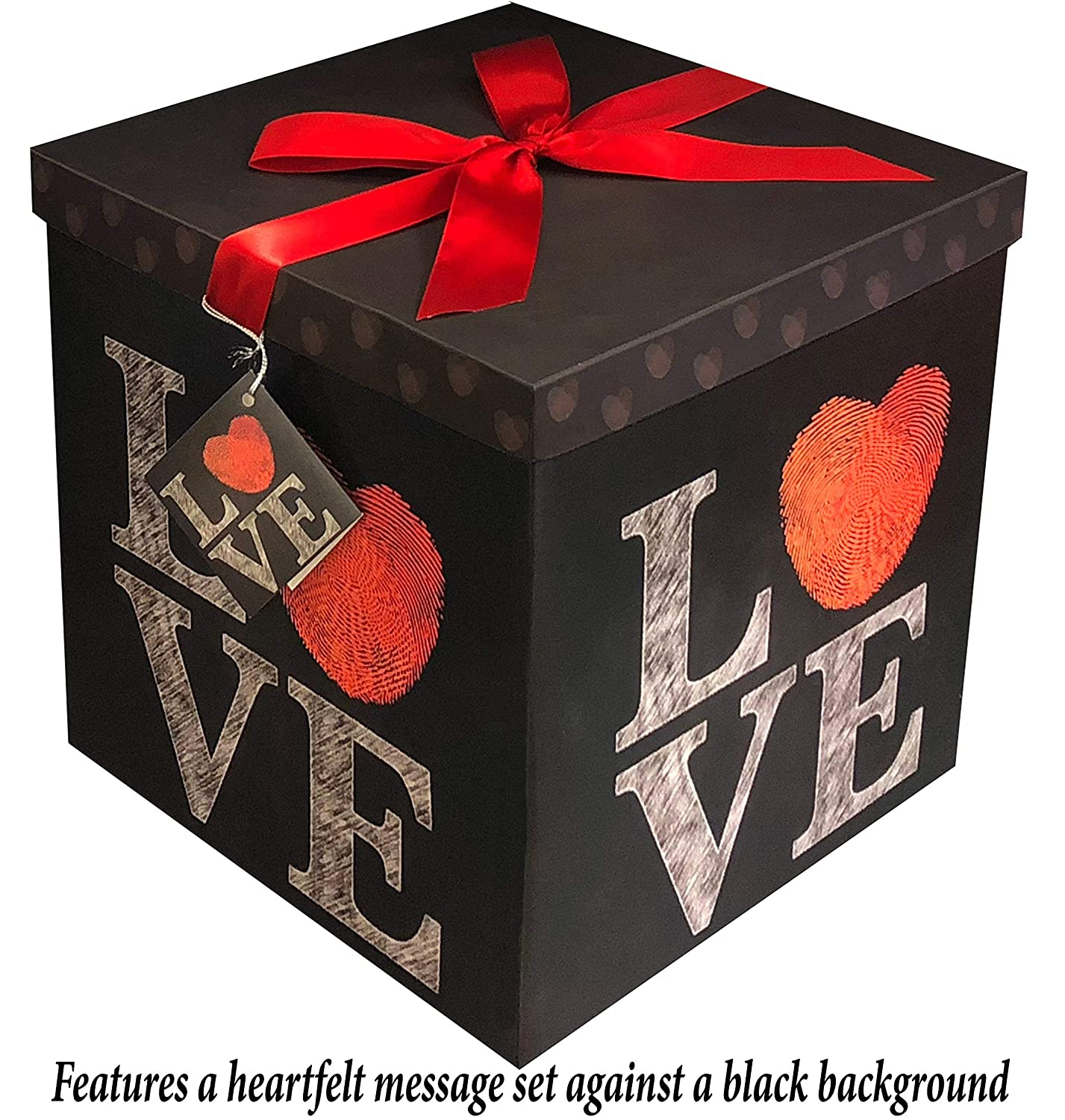 Gift Box 4x4x4 Amrita Think Pop up in Seconds comes with Decorative Ribbon mounted on the lid A Gift Tag and Tissue Paper - No Glue or Tape Required Endless Art US BX-117-1048