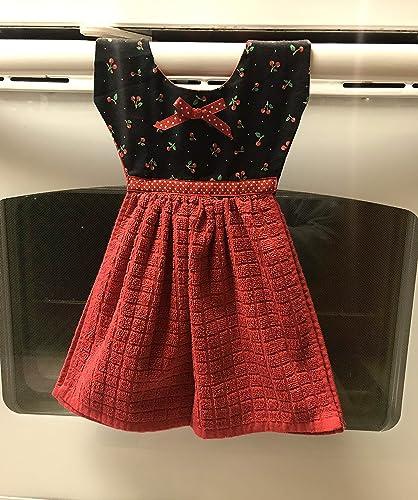 Amazon com: Kitchen Towel- Dress Shaped - Cherries: Handmade