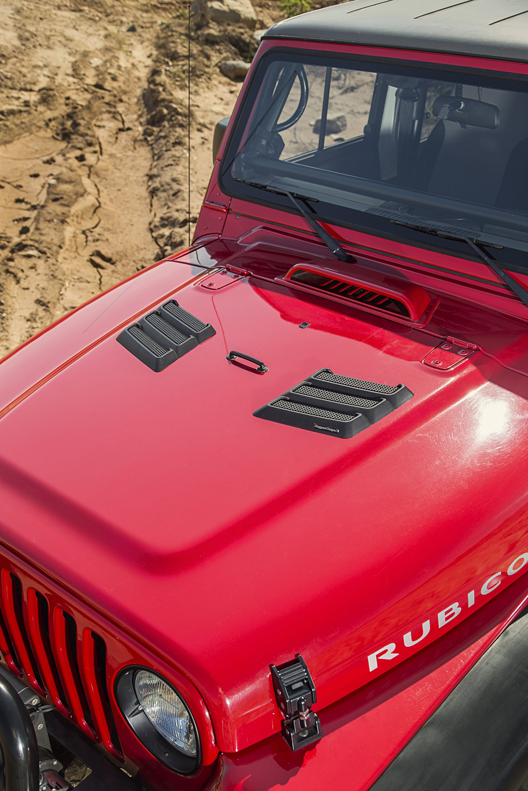 Rugged Ridge 17759.09 Black Performance Hood Vent for Jeep JK Wrangler by Rugged Ridge (Image #10)